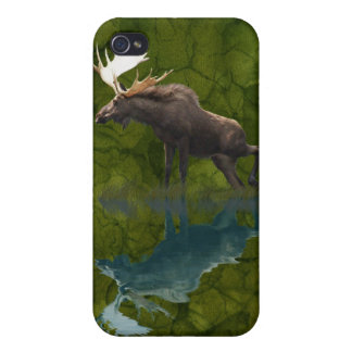 Wild Moose and Full Moon Wildlife iPhone 4 Cases