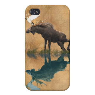 Wild Moose and Full Moon Wildlife Covers For iPhone 4