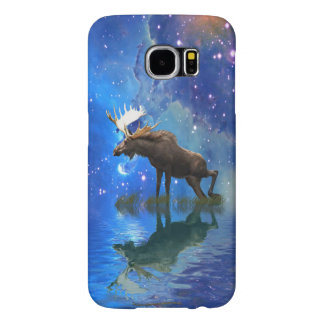 Wild Moose & Starry Skies Wildlife Cell Phone Case Samsung Galaxy S6 Cases