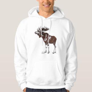 Wild Moose Wildlife Supporter Art Hoodie