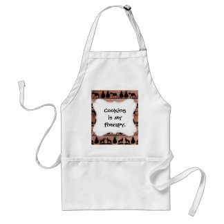 Wild Moose Wolf Wilderness Mountain Cabin Rustic Adult Apron
