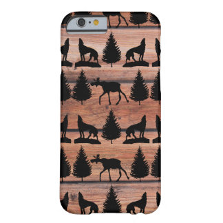 Wild Moose Wolf Wilderness Mountain Cabin Rustic Barely There iPhone 6 Case