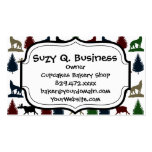 Wild Moose Wolf Wilderness Mountain Cabin Rustic Business Cards
