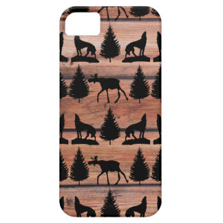 Wild Moose Wolf Wilderness Mountain Cabin Rustic iPhone 5 Cover