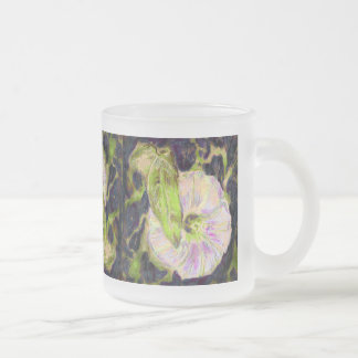 Wild Morning Glory by Alexandra Cook Frosted Glass Coffee Mug