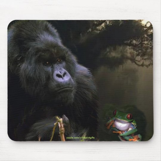 Wild Mountain Gorilla Wildlife-supporter Mousepad
