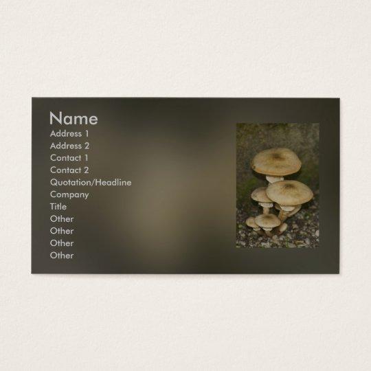wild mushroom business card