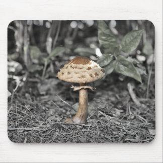 Wild Mushroom Green Leaves Mouse Pad