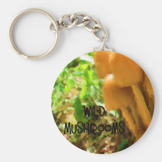 Wild Mushroom Keychain