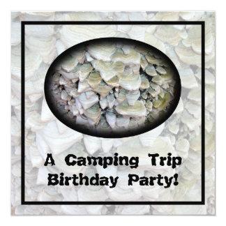 Wild Mushrooms Camping Birthday Party Card