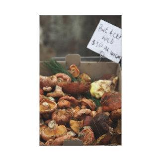 Wild Mushrooms For Sale Canvas Print
