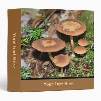 Wild Mushrooms In Moss Nature Binder