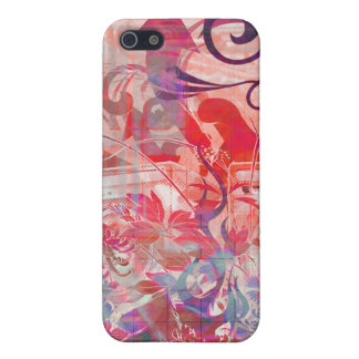 Wild Musical Symphony red purp iPhone SE/5/5s Cover