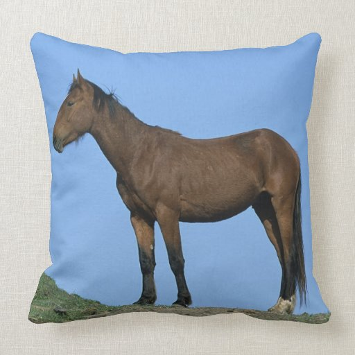 Wild Mustang Horse Pillow
