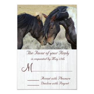 WIld Mustang Horse Wedding RSVP Cards