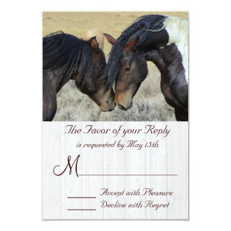 "WIld Mustang Horse Wedding RSVP Cards 3.5"" X 5"" Invitation Card"