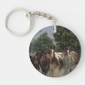 Wild Mustang Horses 2 Keychain