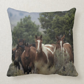 Wild Mustang Horses 2 Throw Pillow