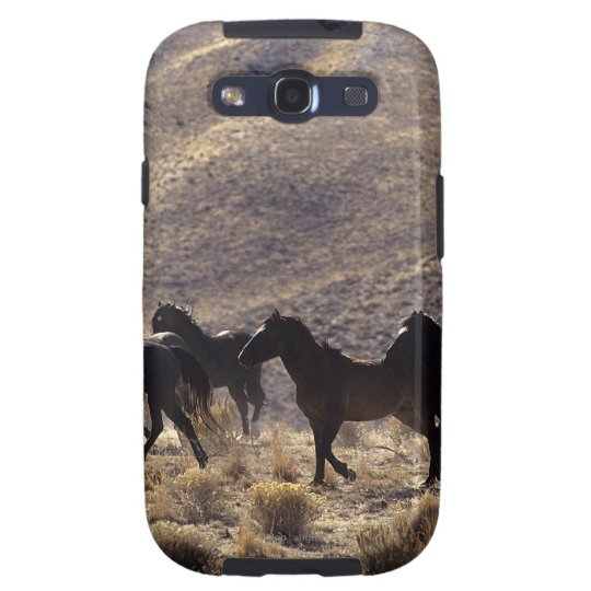 Wild Mustang Horses in the Desert 1 Samsung Galaxy S3 Cover