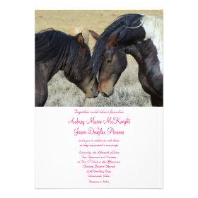 Wild Mustang Horses Wedding Invitations