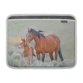 Wild Mustang Mare With Colt MacBook Air Sleeves