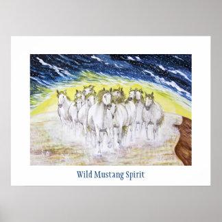 Wild Mustang Spirit Posters