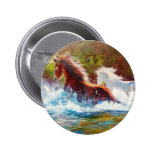 Wild Mustang Splash 2 Inch Round Button