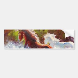 Wild Mustang Splash Bumper Sticker