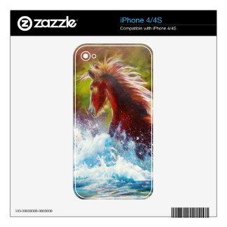 Wild Mustang Splash Decals For iPhone 4S