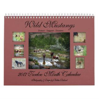 Wild Mustangs 2017 Calendar