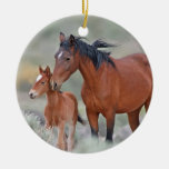 Wild Mustangs at Altamont Pass Christmas Ornament