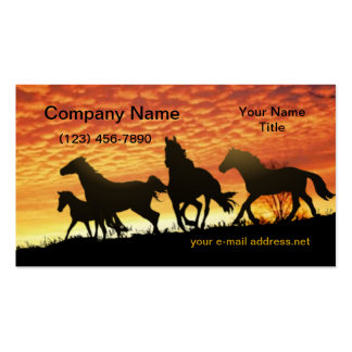 Wild Mustangs Business Card