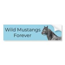 Wild Mustangs Forever Bumper Sticker