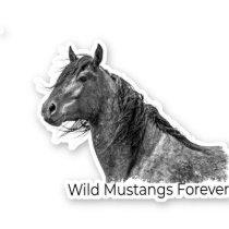 Wild Mustangs Forever Sticker