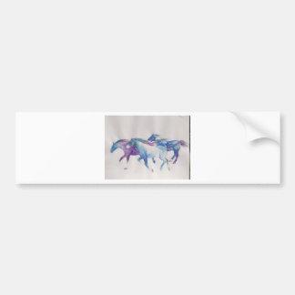 Wild Mustangs in Pastel Bumper Sticker