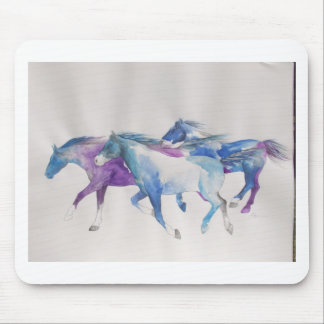Wild Mustangs in Pastel Mouse Pad