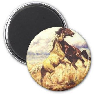 Wild Mustangs Magnet