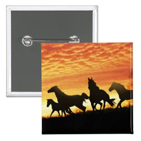 Wild Mustangs Pinback Button