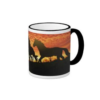 Wild Mustangs Ringer Mug