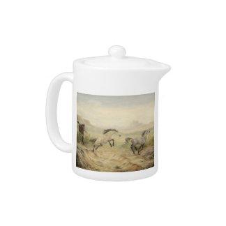 Wild Mustangs Teapot