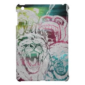 Wild Nature Animals Lion Monkey Wolf iPad Mini Case