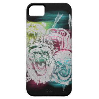 Wild Nature Animals Lion Monkey Wolf iPhone SE/5/5s Case