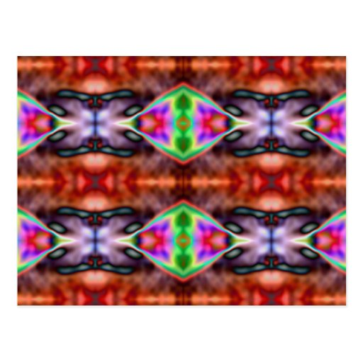 Wild Neon Psychedelic Pattern Postcard