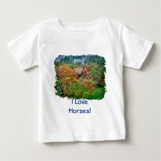 Wild New Forest Pony Horse-lover's Gift Baby T-Shirt