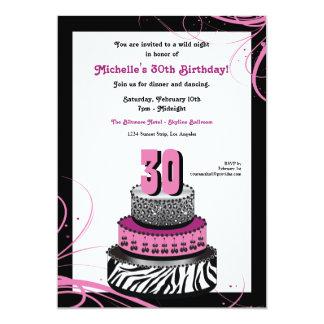 Wild Night Birthday Cake Invitation