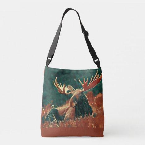 Wild North Moose Crossbody Bag