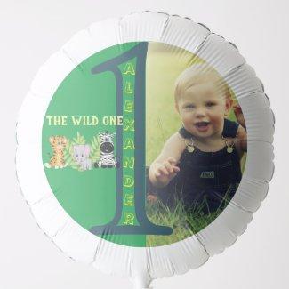 Wild One 1st Birthday Party Photo Balloon