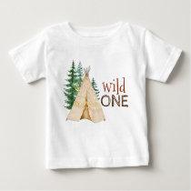 Wild One Baby First Birthday Shirts