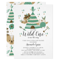 Wild One Baby Shower Invitation