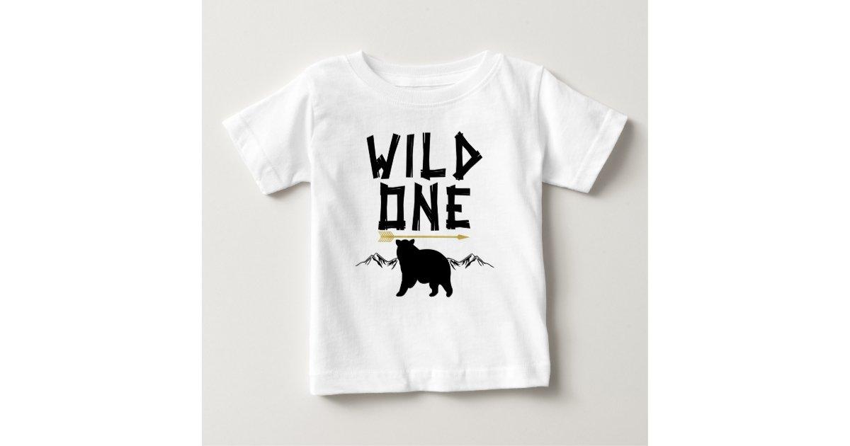 Wild One Bear Arrow 1st Birthday Shirt | Zazzle.com